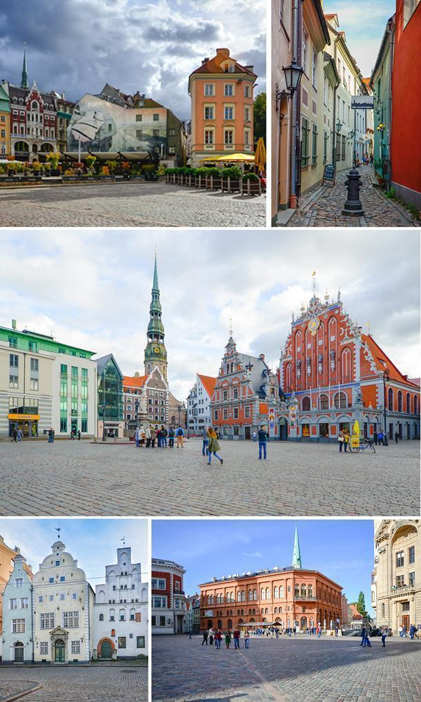 Riga's UNESCO-listed Old Town is a beautiful travel destination.