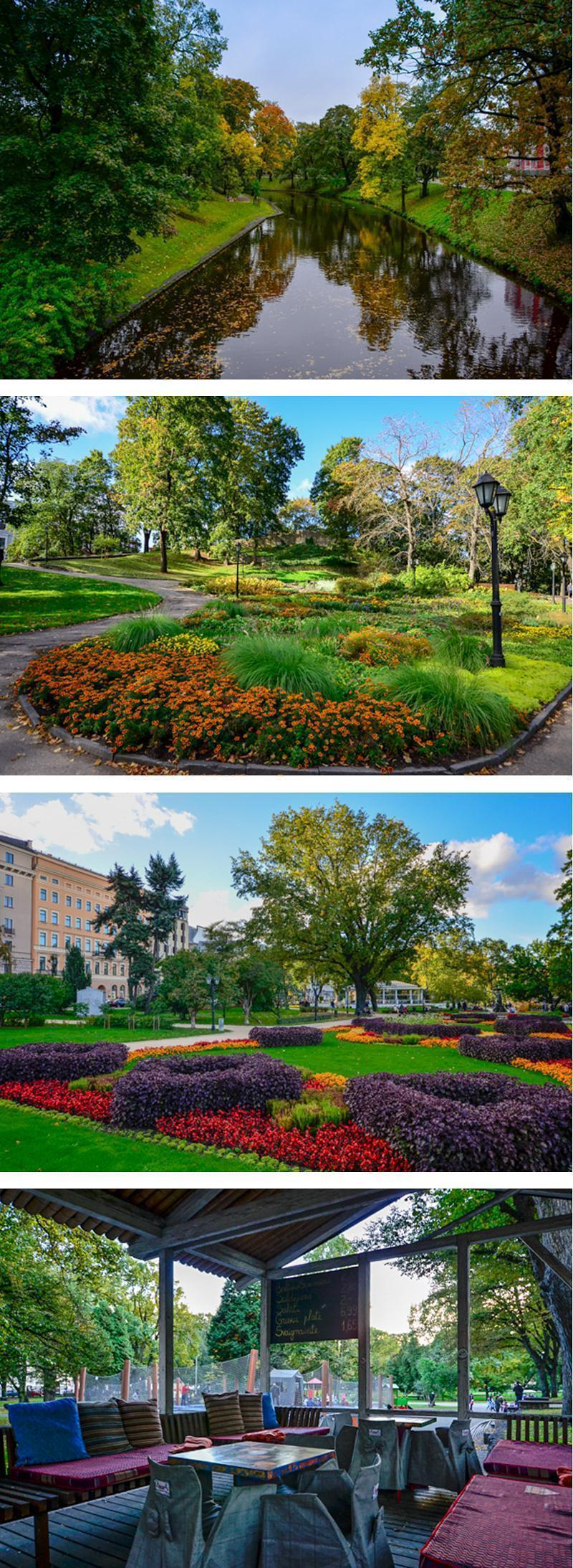 Riga's beautiful parks and the view from the Tea House