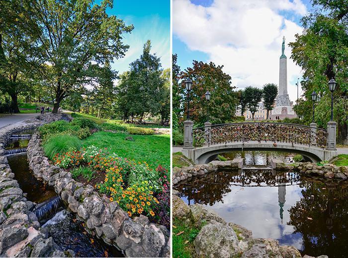 Riga has plenty of beautiful green spaces to enjoy.