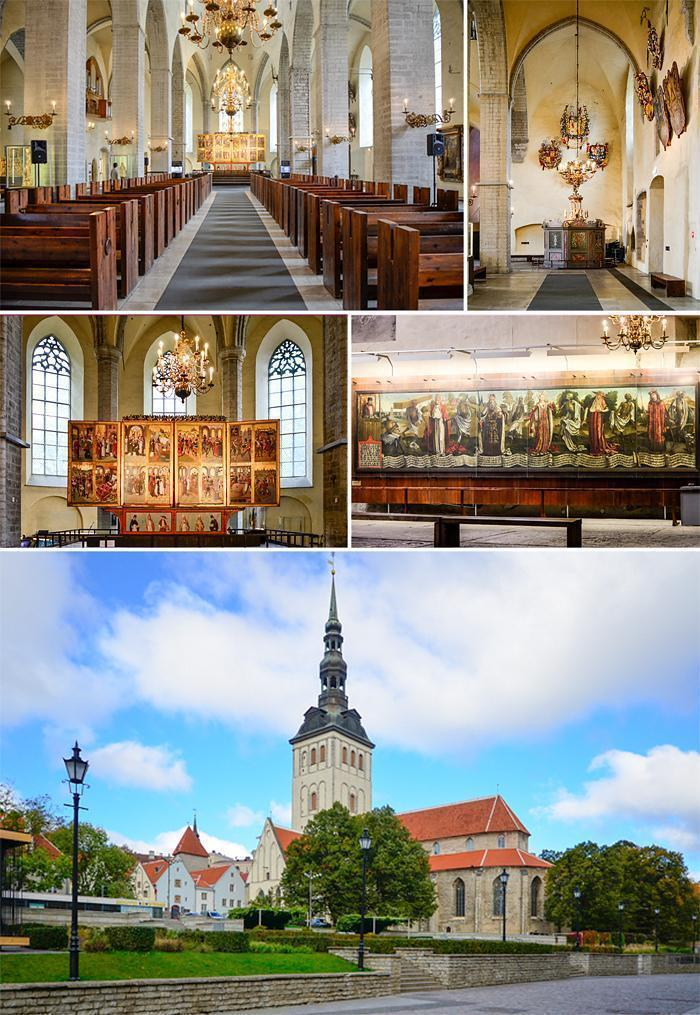 St. Nicolas' Church is a highlight of Tallinn, Estonia's Old Town