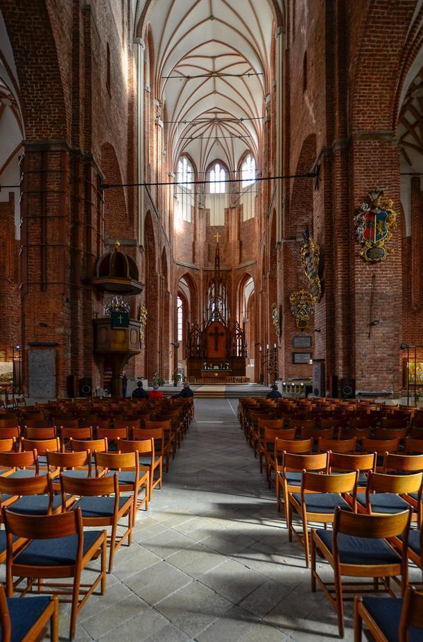 Inside Riga's St. Peter's Church.