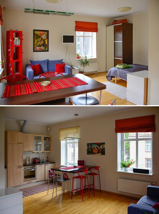 Julika's studio apartment, in central Tallinn, via Airbnb