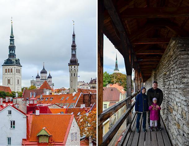 Beautiful views of Tallinn from the city walls