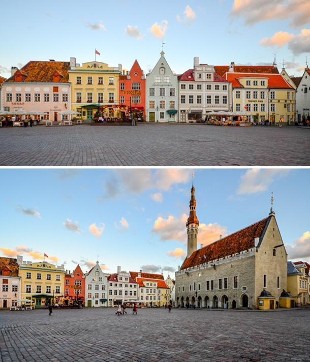 Tallinn, Estonia's Town Hall Square