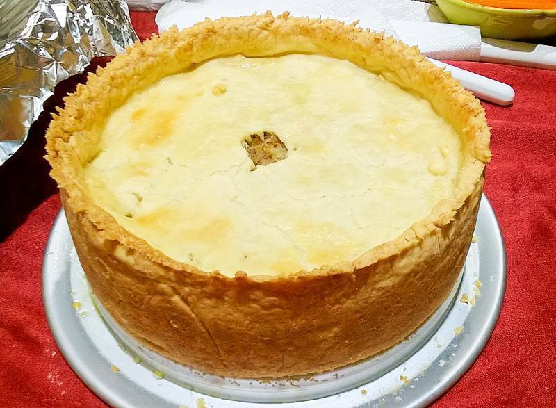The Tourtiere we tried wasn't this thick but we were so excited to eat it, we forgot to take a photo! (photo via wiki)