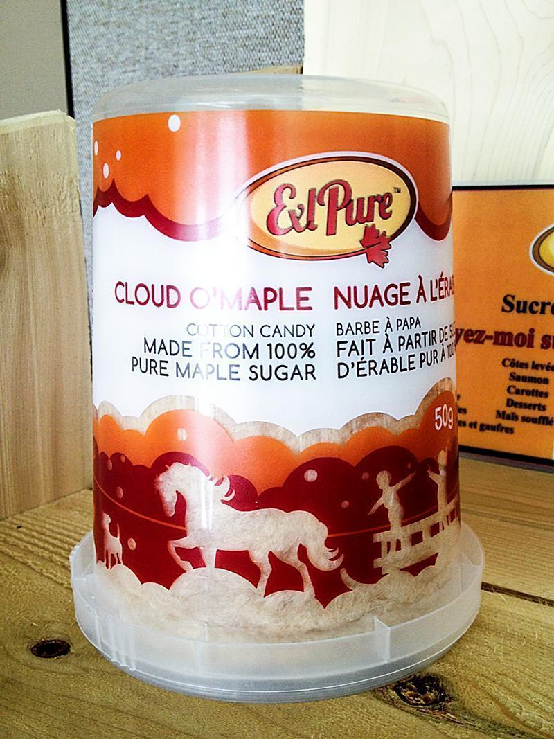 Cloud O'Maple is an all natural cotton candy treat