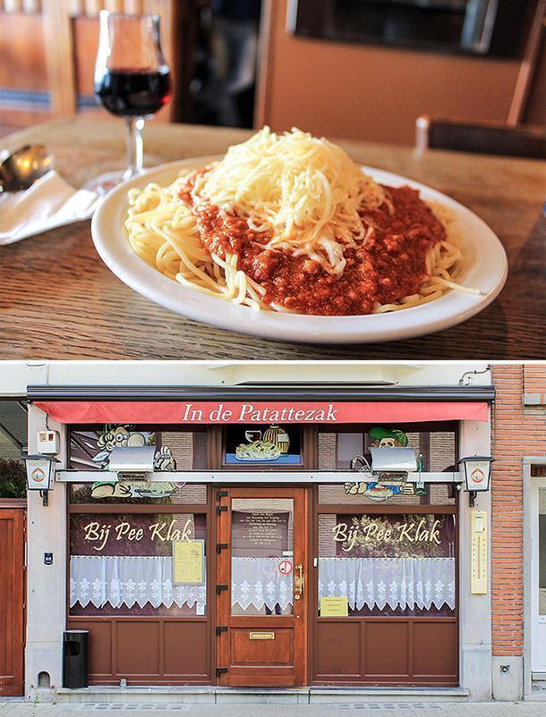 In de Patattezak bistro may just serve the best spaghetti in Belgium