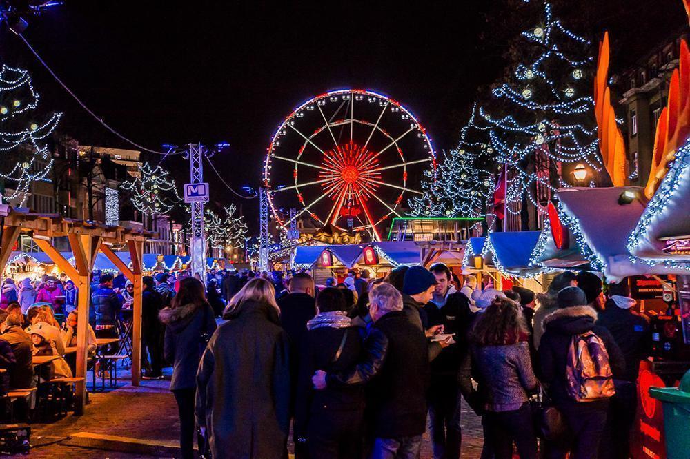 Winter Wonders Christmas Market in Brussels, Belgium