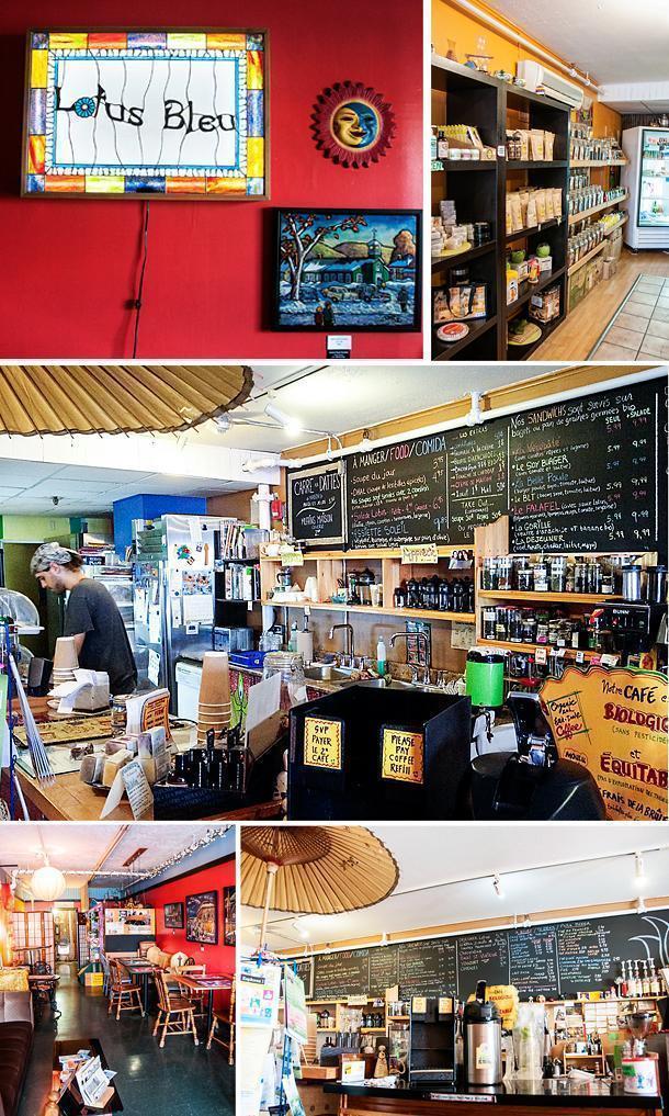 Hippy-Chic Lotus Bleu Cafe in Edmundston, NB