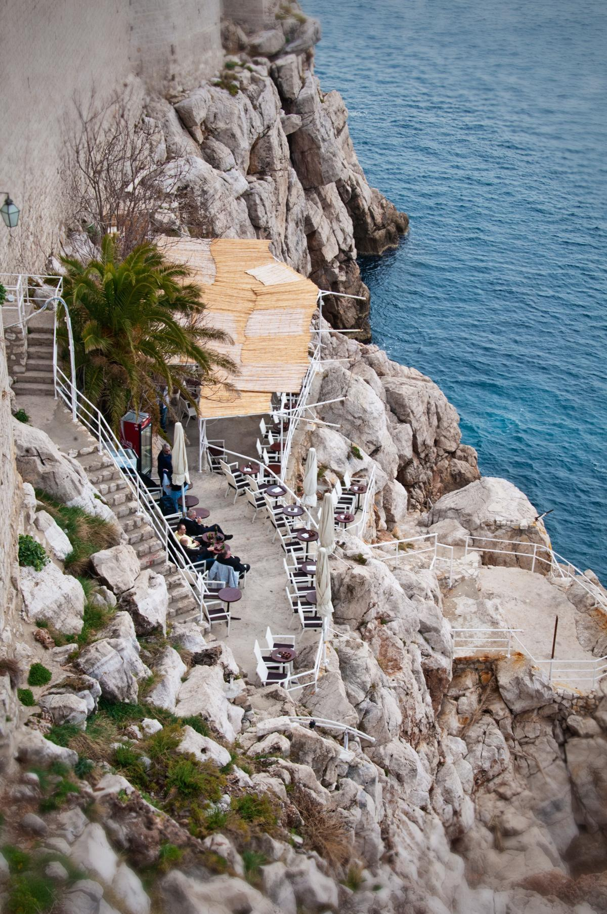 The Buza cafe in Dubrovnik, Croatia offers drinks with an unforgettable view
