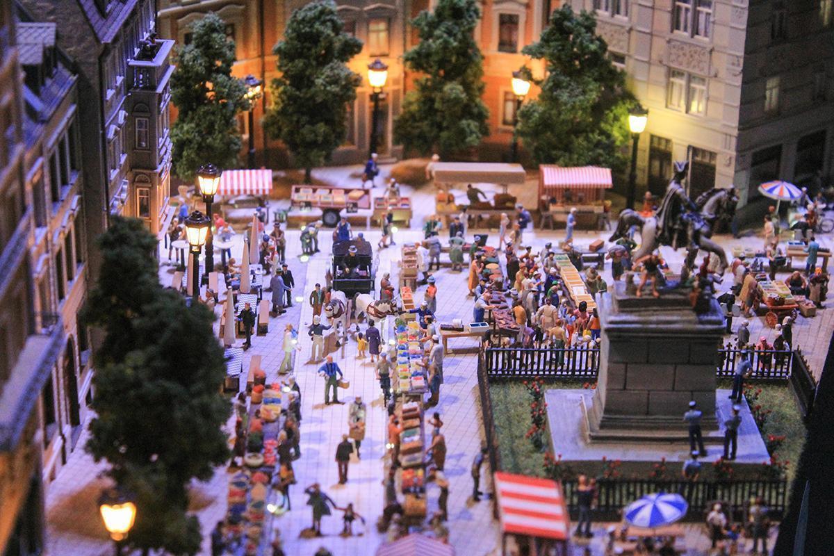 The bustling Market in Mini World Lyon