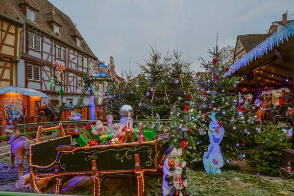 Kids will love having their own market in Colmar, France