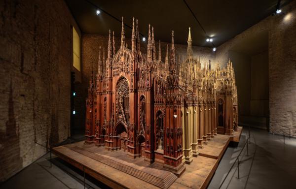 A miniature Duomo, inside the Duomo Museum, Milan, Italy