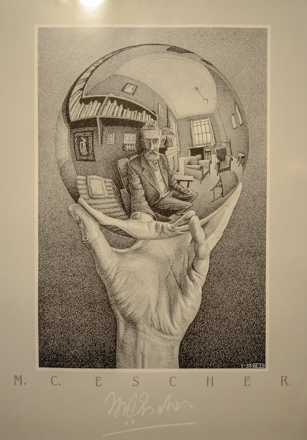 Visiting the Escher exhibition was a fun thing to do in Milan, Italy