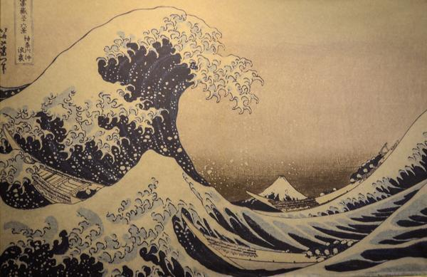 Hokusai's The Wave at the Palazzo Reale, Milan, Italy