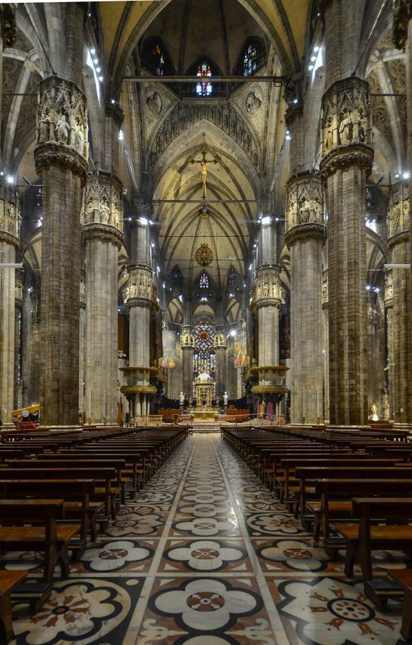 Inside Milan's Duomo is just as breath-taking as the exterior