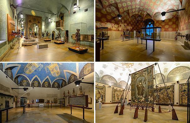 Inside the Museum of Ancient Art at Castello Sforzesco, Milan, Italy