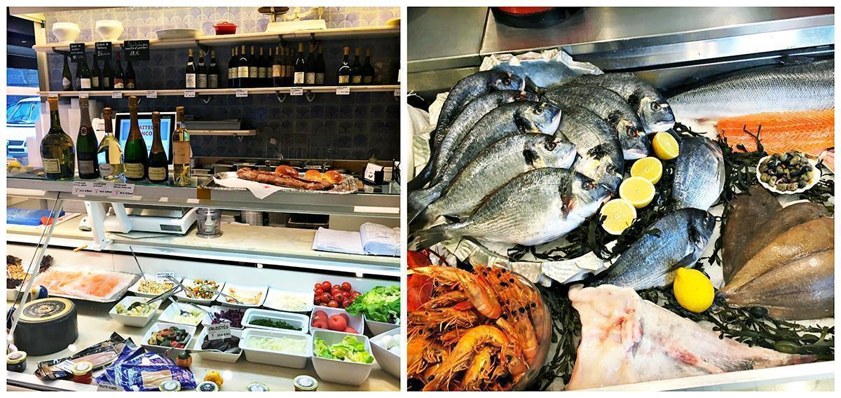 Francois Traiteur with the best selection of seafood on Brussels' Place Sainte Catherine.
