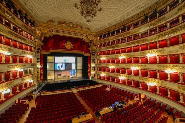 Inside the Teatro alla Scala, Milan's famous Opera House