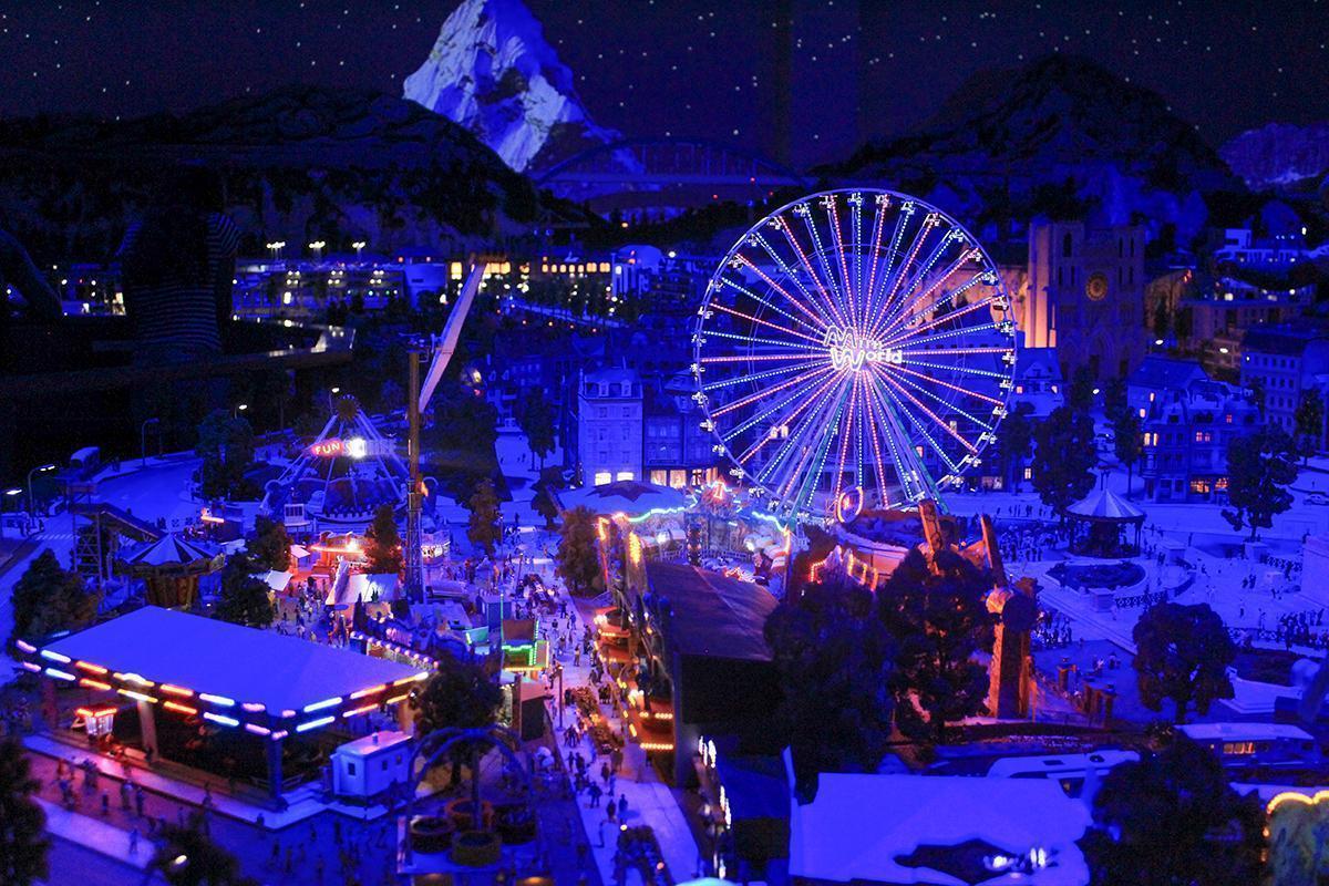 Take the Ferris Wheel for a spin at Mini World Lyon