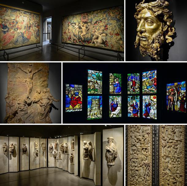 Inside the Duomo Museum, in Milan, Italy, the works of art are impressive