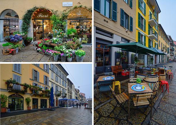 Milan's colourful canal district, the Navigli neighbourhood
