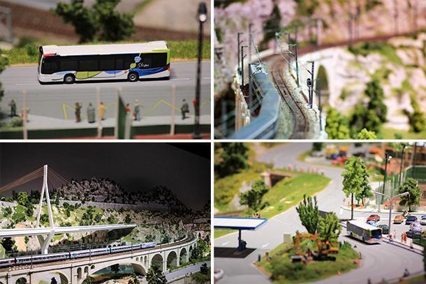 Planes, trains, and automobiles - there's plenty of transportation in Mini World Lyon