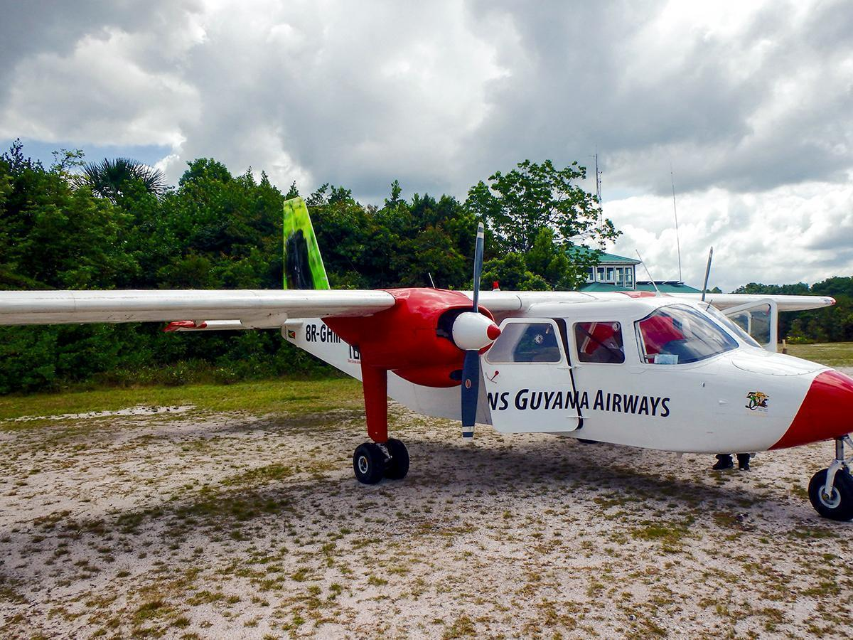 All aboard the little airplane to Kaieteur Falls, Guyana