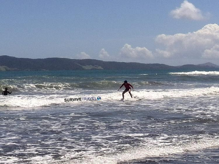 Surfs up at Bagasbas Beach, near Daet, Philippines