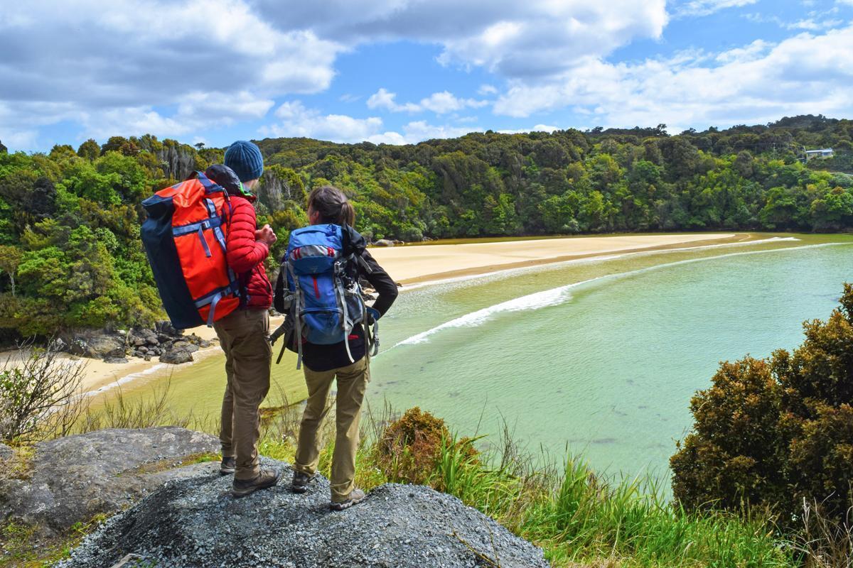 Admiring the beaches of Stewart Island, New Zealand