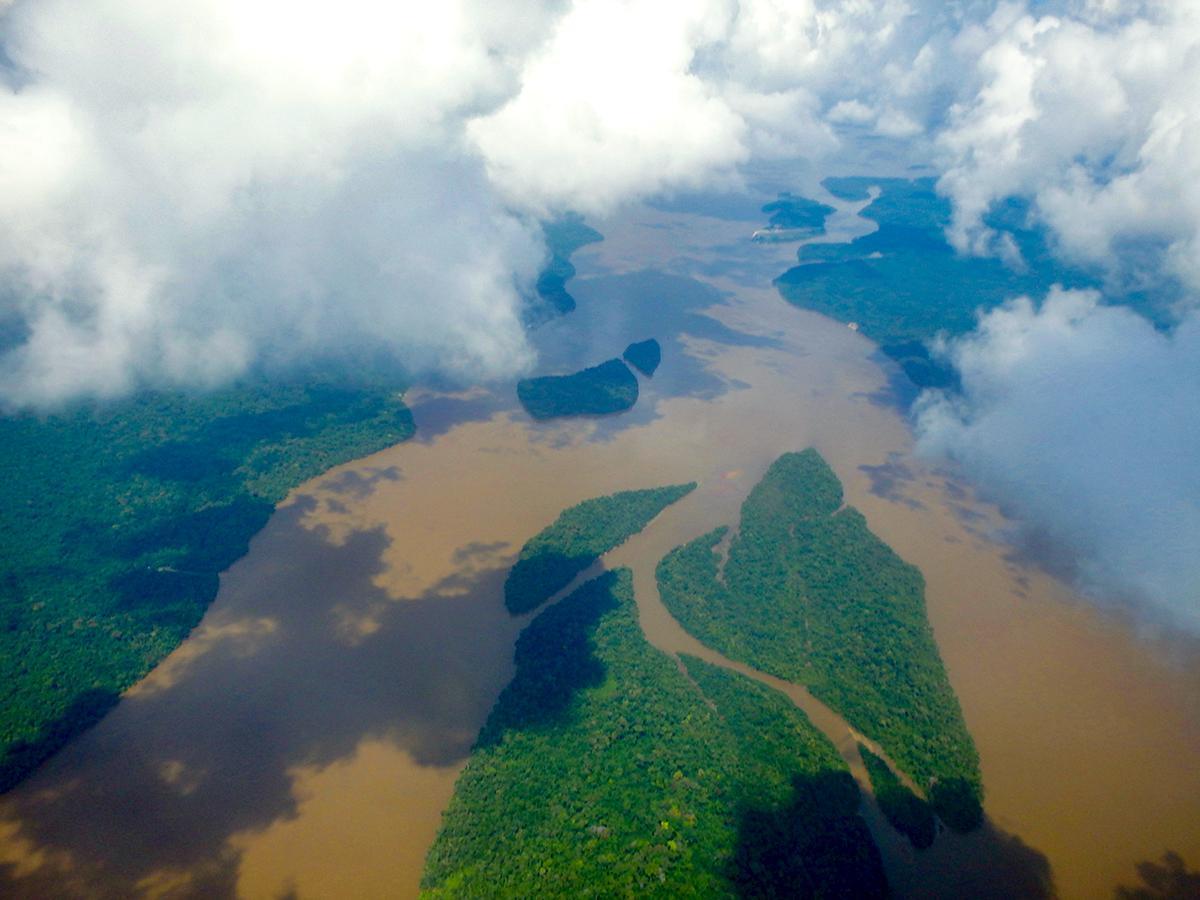 Flying over the Amazon in Guyana