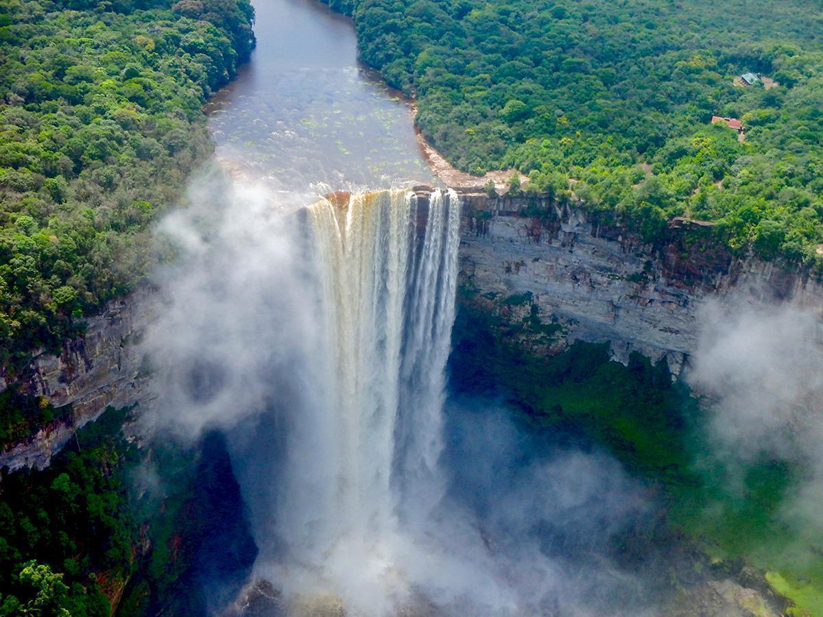 Soaring over Kaieteur Falls, Guyana. South America