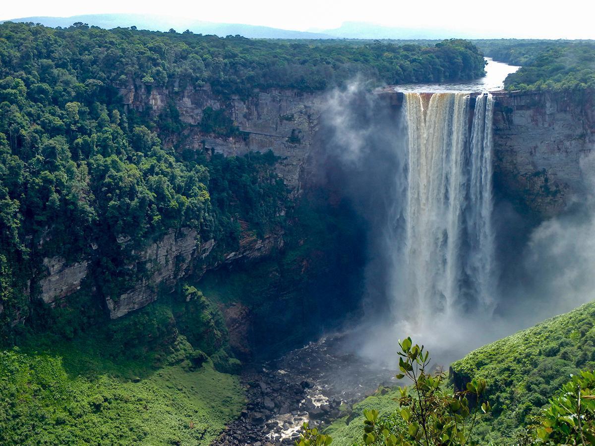 Viewing Kaieteur Falls, Guyana. South America
