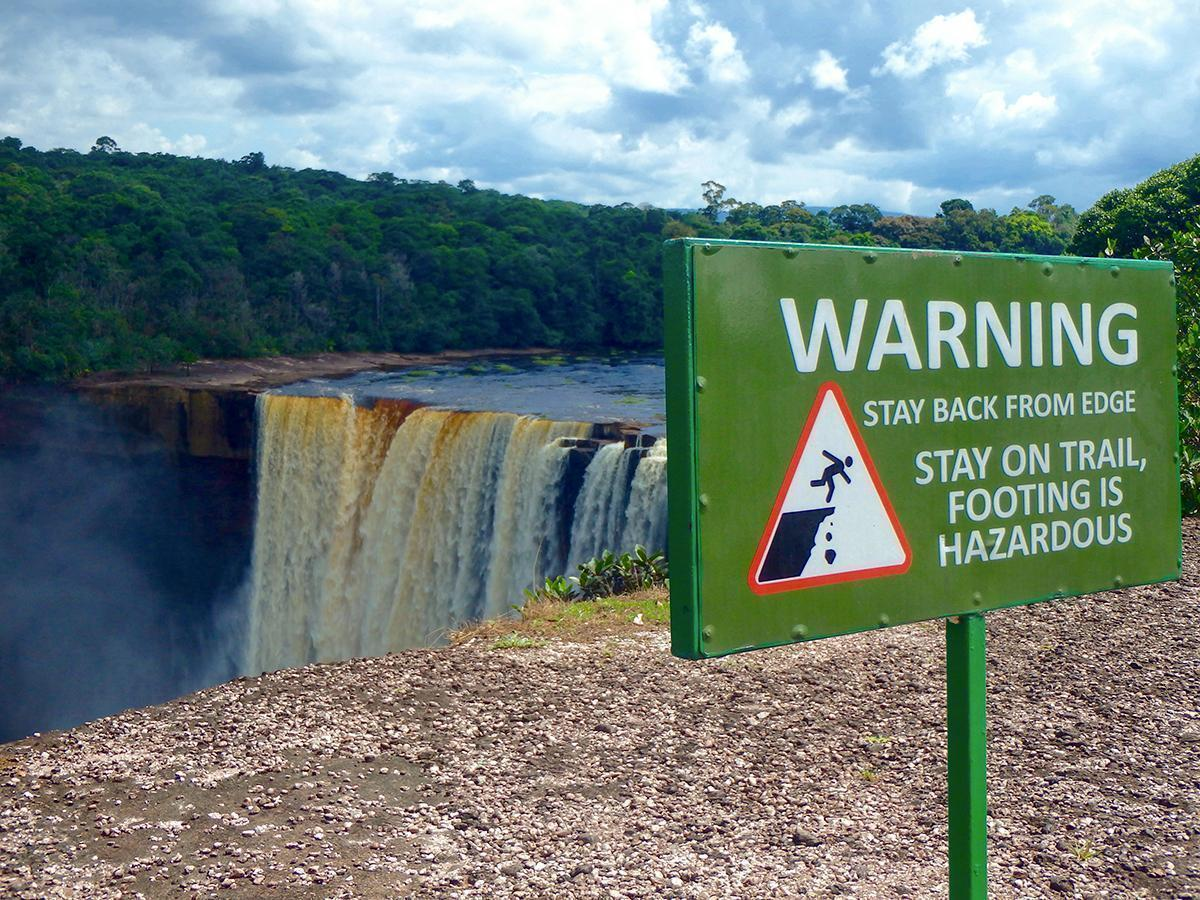There are no guardrails at Kaieteur Falls, Guyana