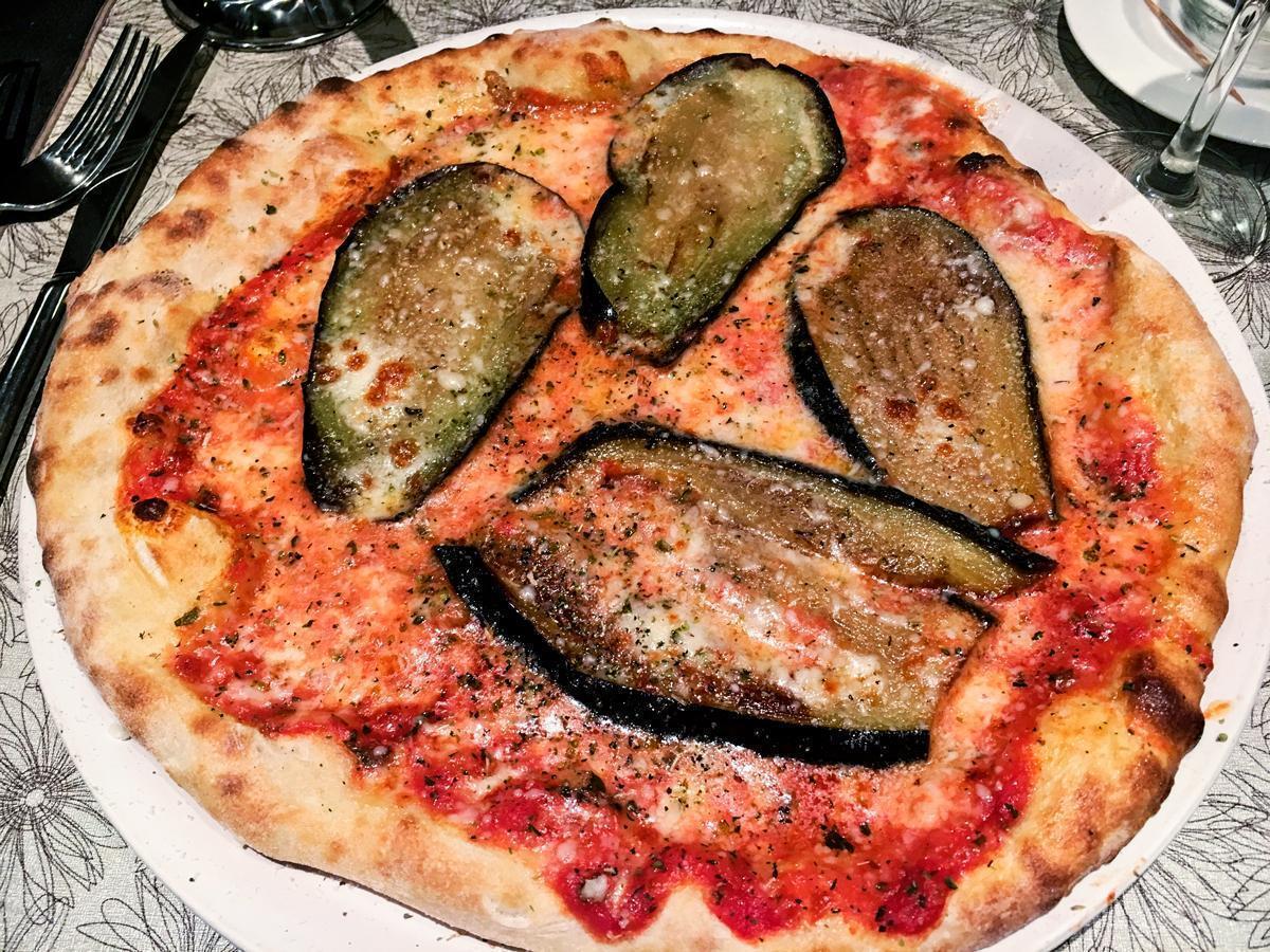 Scrumptious pizza at La Trinacria Italian Restaurant!