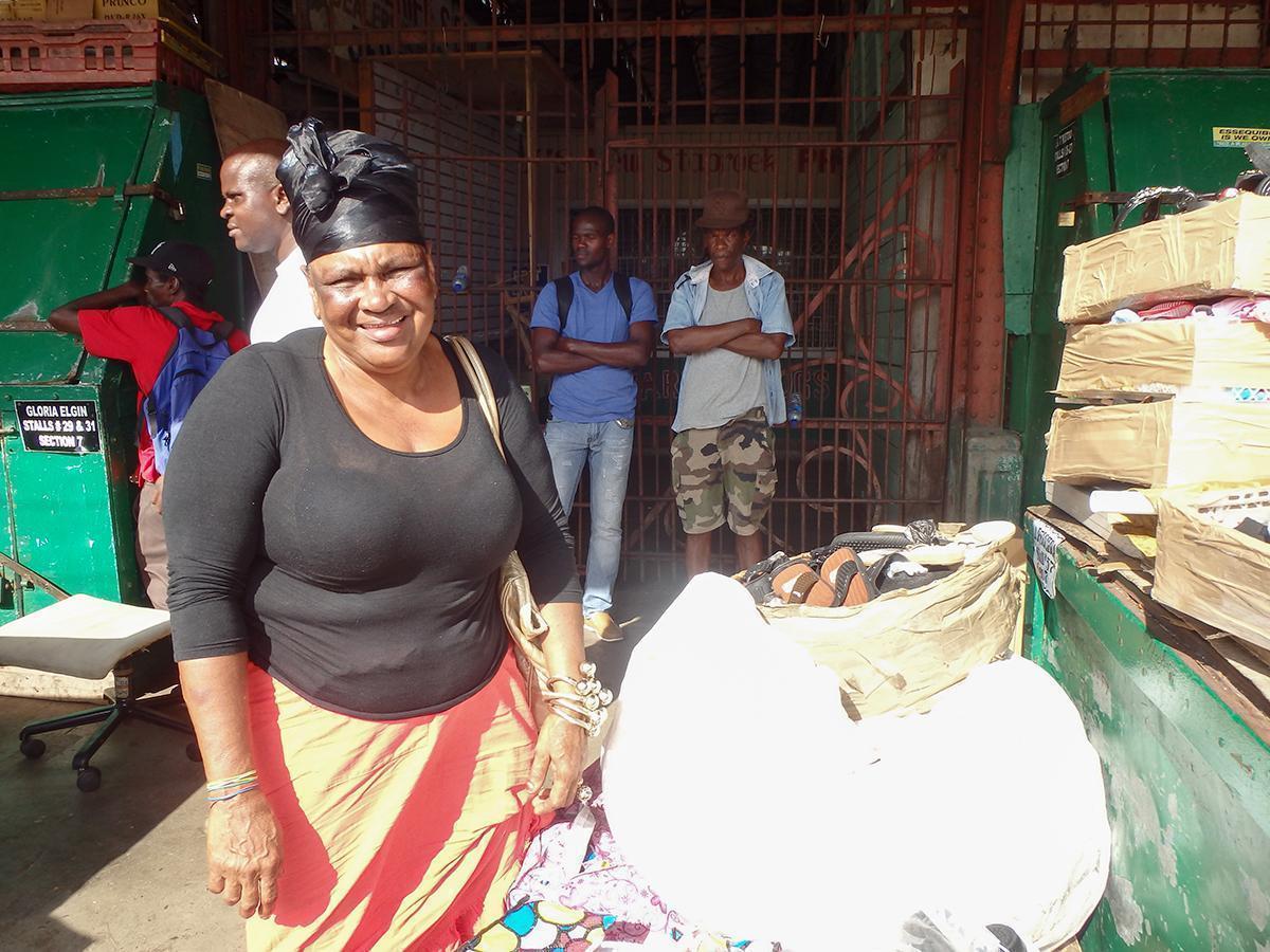 Friendly locals at Starbroeck Market, in Georgetown, Guyana