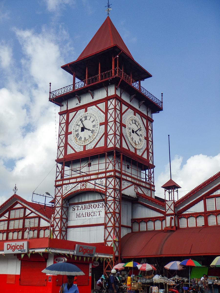 The colourful Starbroeck Market hall in Georgetown, Guyana