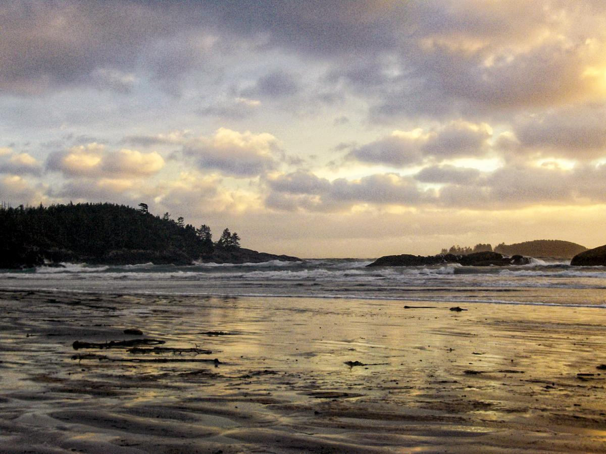 Tofino's Long Beach is the perfect place for a sunset stroll.