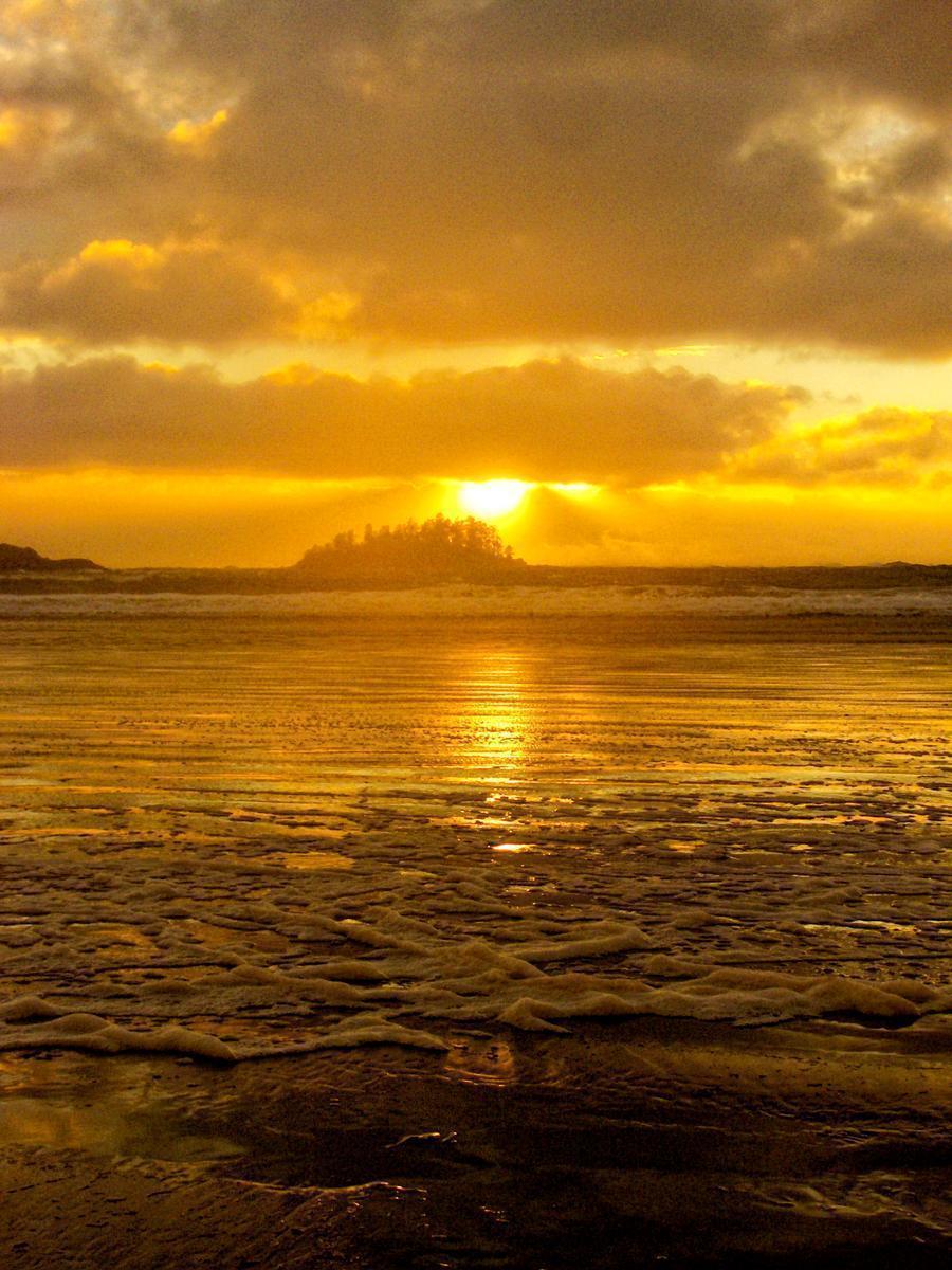 Sunset over Long Beach, Tofino, BC, Canada