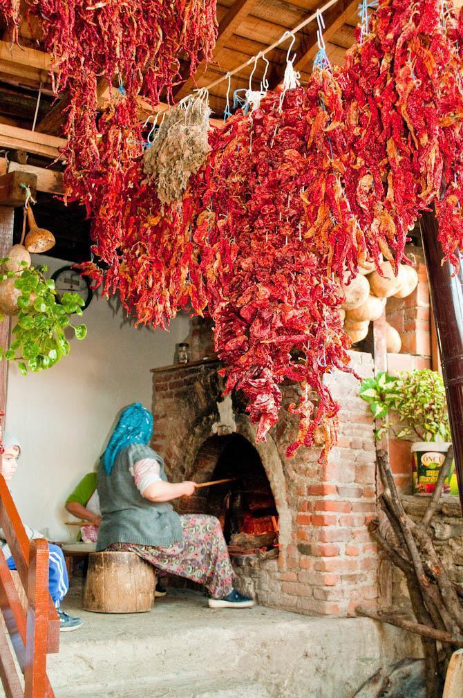 A restaurant in Sirince, Turkey