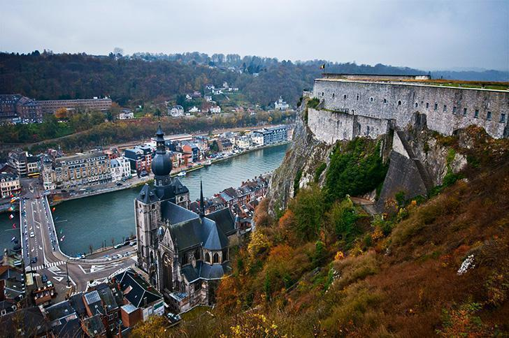 The view from the Dinant Citadel reminds us Belgium is 'Somewhere.'