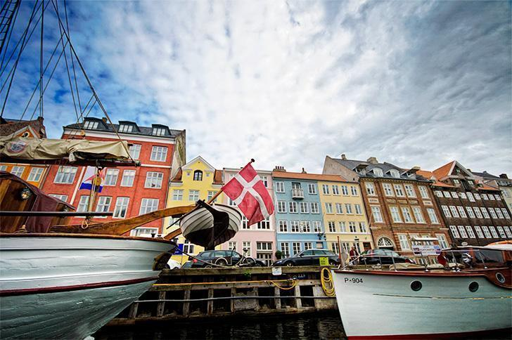 Copenhagen, Denmark is lively, friendly, and colourful.