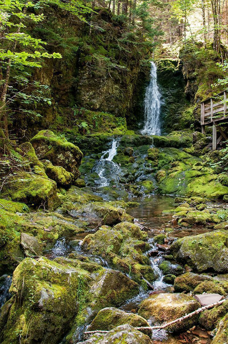 Dickson Falls, in Fundy National Park, New Brunswick, Canada