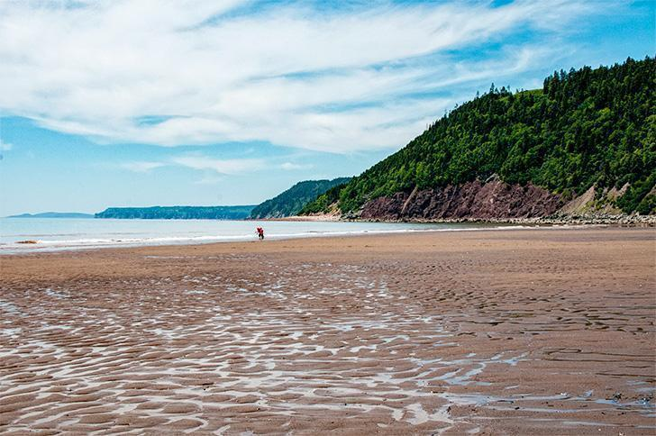 The beaches of the Bay of Fundy coast of New Brunswick, Canada are my healing places.