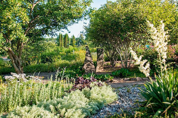 The Gravel and Ornamental Grasses Gardens at Kingsbrae, St. Andrews, NB