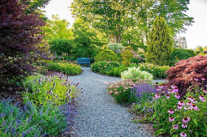 The stunning Perennial Garden at Kingsbrea, St. Andrews, NB