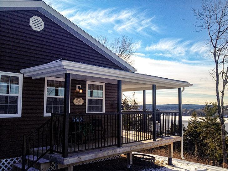 Eagle's Eye View Cottages have a stunning view of the St. John River Valley