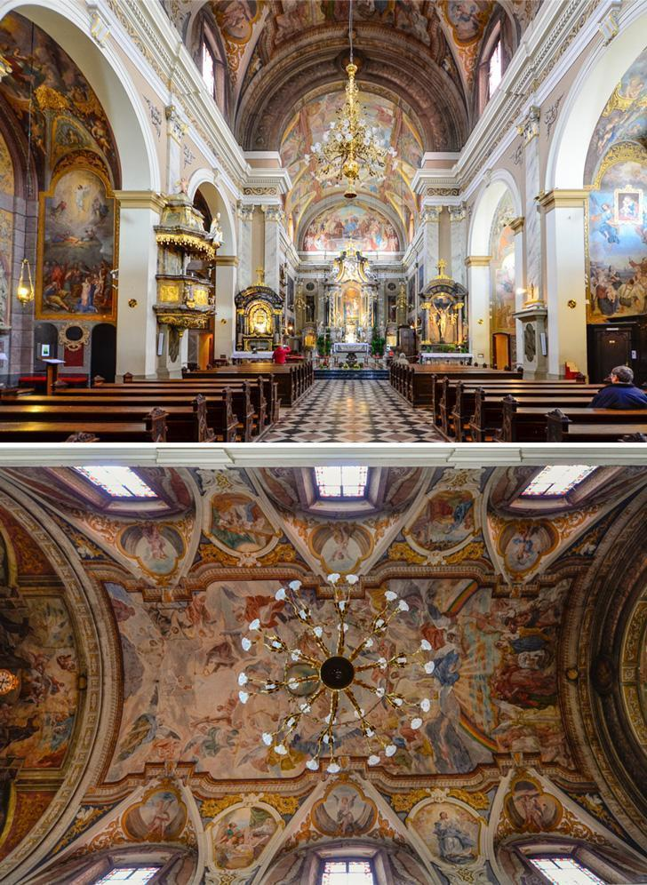 Don't miss visiting the Franciscan Church of the Annunciation in Ljubljana, Slovenia