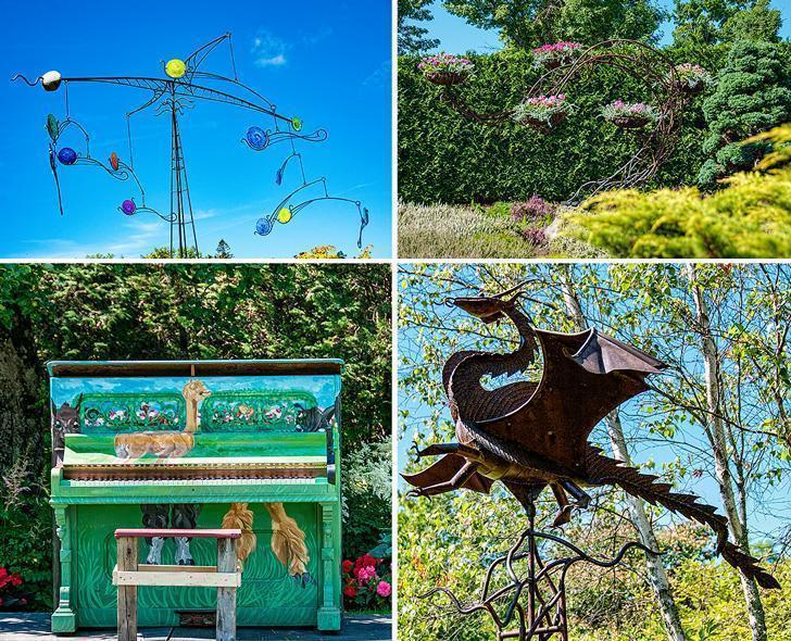 There is colour and whimsy throughout Kingsbrae Garden