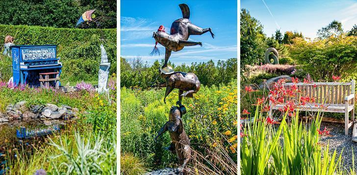 Art and sculpture are found throughout Kingsbrae Garden